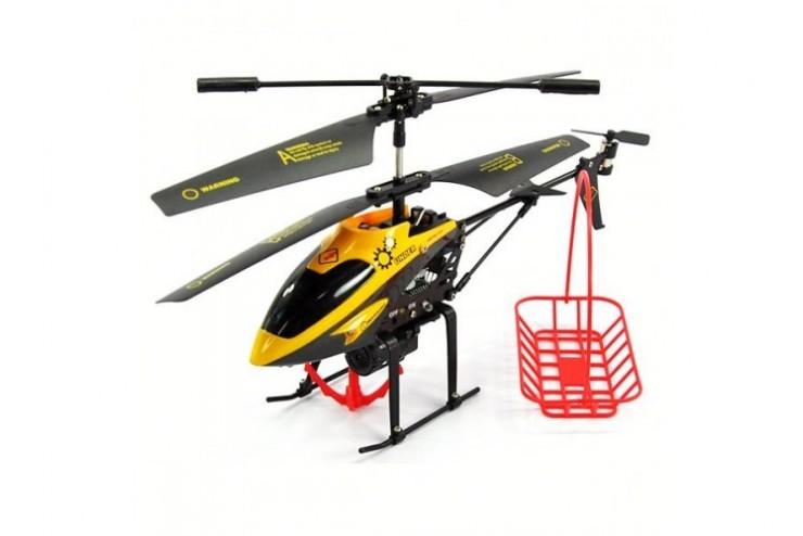 Радиоуправляемый вертолет WL Toys V388 с подъемным краном - V388