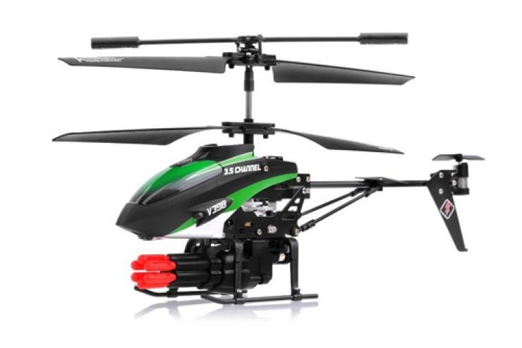 V398 Радиоуправляемый вертолет WL Toys V398 с ракетной установкой и снарядами - V398