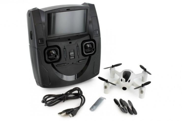 Радиоуправляемый квадрокоптер Hubsan X4 с бортовой видеокамерой и системой FPV - H107D