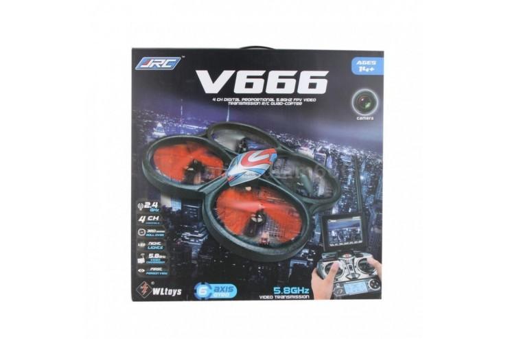 Радиоуправляемый квадрокоптер WL Toys V666N FPV Camera UFO Barometer Sensor 2.4G - V666N