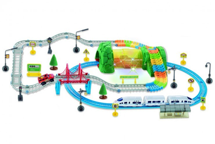 Автотрек + железная дорога Huan Nuo - 3631Y