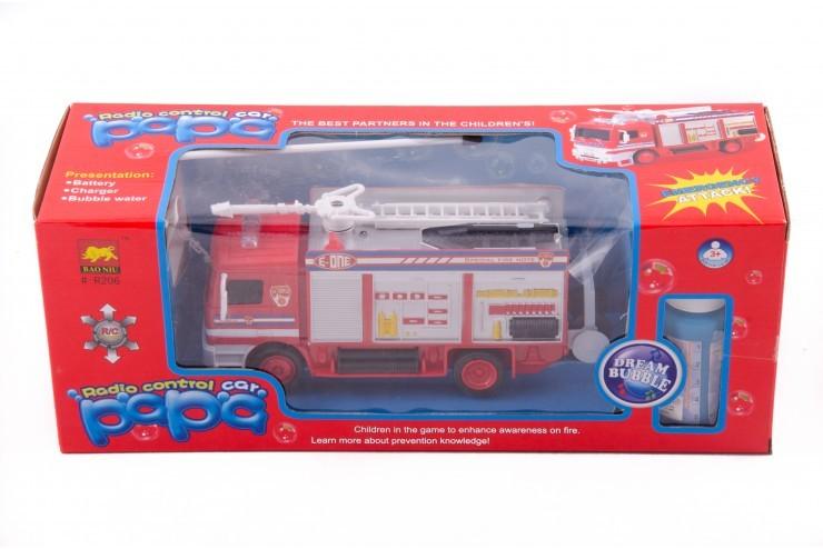 Радиоуправляемая пожарная машина с мыльными пузырями BAO NIU - R206