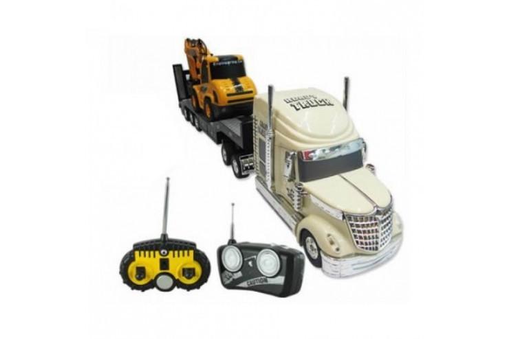 QY0233B Радиоуправляемый грузовик и экскаватор Rui Chuang - QY0233B
