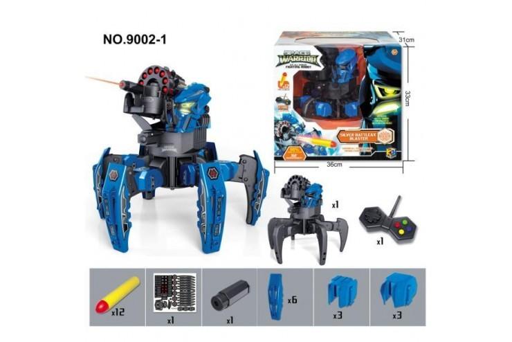 Радиоуправляемый робот-паук 2.4G (лазер, ракеты) (красный, синий) Wow Stuff 9002-1