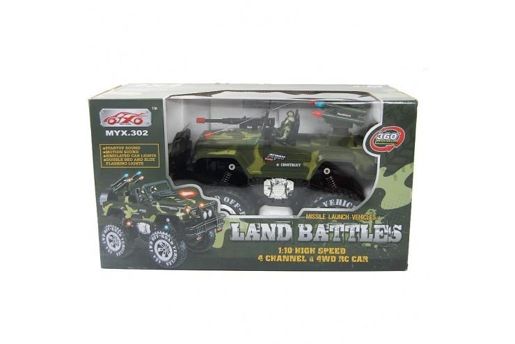 MYX302 Военный джип Land Battles на р/у MYX MYX302