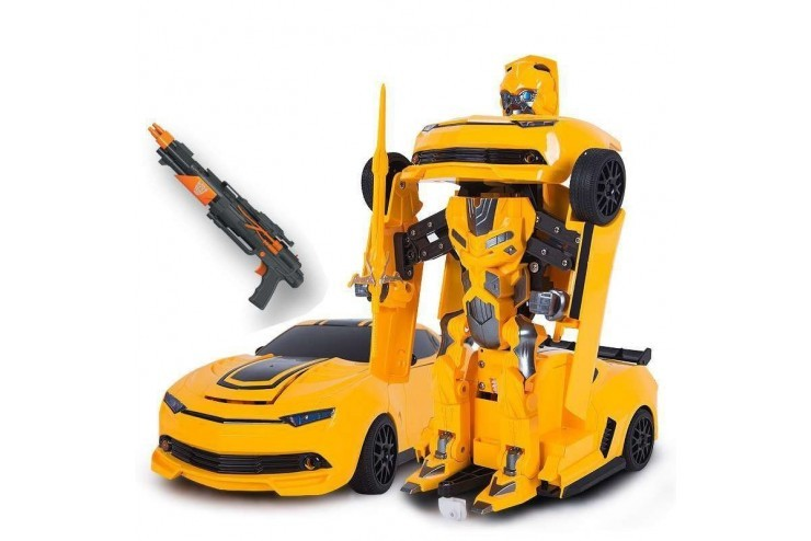 MZ-2314K Радиоуправляемый робот трансформер MZ Chevrolet Camaro с пультом управления ввиде ружья 1:14 2.4G Meizhi MZ-2314K