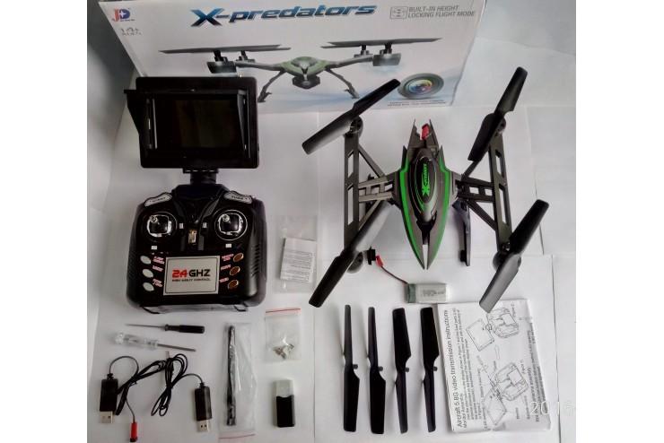 Kвадрокоптер X-Predators 5.8G FPV 6 осевой гироскоп JXD JXD-510G