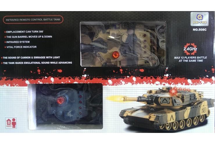 508C Радиоуправляемый танковый бой 2,4G Tiger vs Leopard 1:28 Huan QI 508C