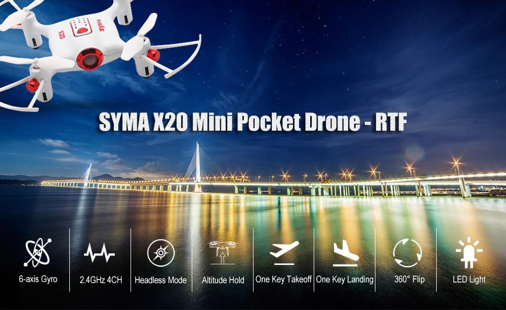 SYMA-X20 Радиоуправляемый квадрокоптер SYMA-X20 RTF 2.4G