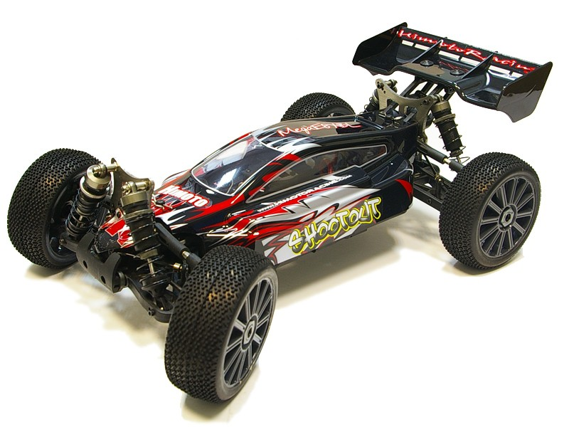 E8XBL Р/У Монстр Himoto SHOOTOUT BRUSHLESS 4WD 2.4GHz 1/8 RTR + Li-Po и З/У