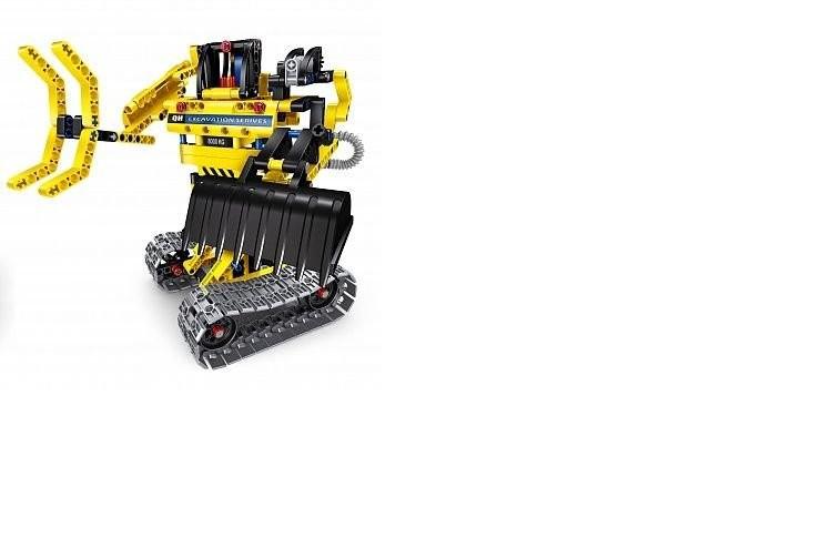 Радиоуправляемый конструктор 2 в 1 (экскаватор и робот) QiHui Technics 342 детали QiHui QH6801