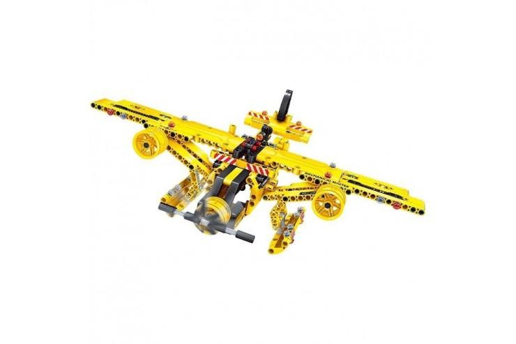 Радиоуправляемый конструктор 2 в 1 (самосвал и самолет) QiHui Technics 361 деталь QiHui QH6802