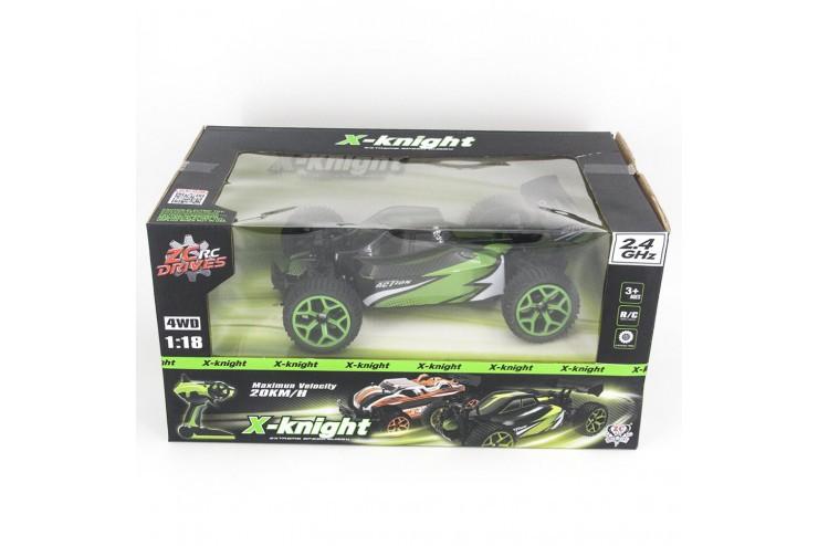 17GS06B Радиоуправляемая багги ZC X-Kinght Action Green 4WD 1:18 2.4G Zhencheng 17GS06B