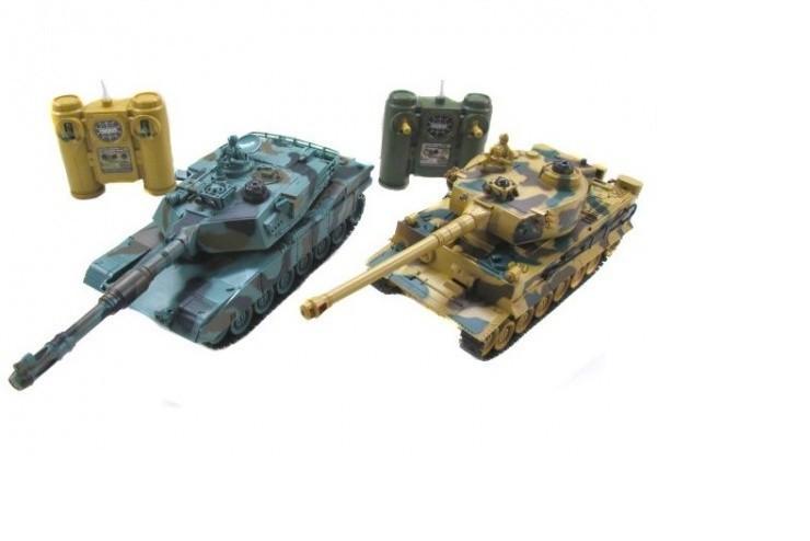 99823 Радиоуправляемый танковый бой Leopard 2A5 vs Tiger I ZEGAN 99823