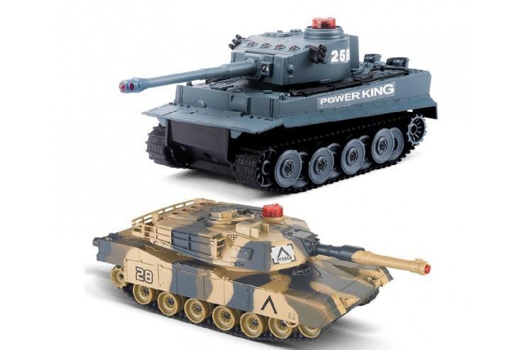 HQ508C Радиоуправляемый танковый бой Huan QI Tiger vs Leopard масштаб 1:32 2.4G - HQ508C