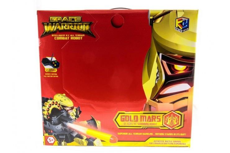 Радиоуправляемый робот-паук Keye Toys Space Warrior, лазер, ракеты, золотой, 2.4G, KT-9002-1G