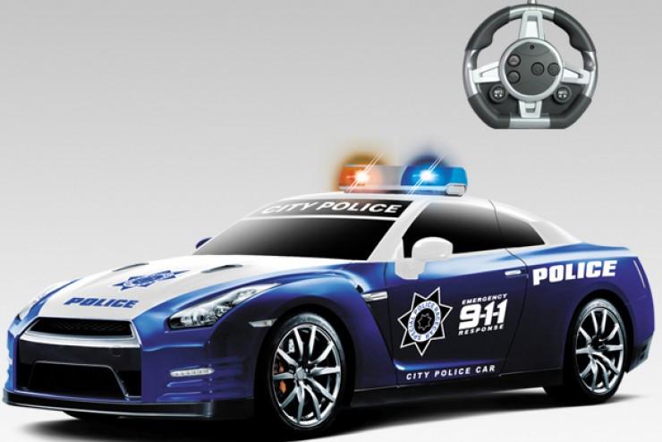 Радиоуправляемый конструктор - автомобили Nissan GT-R Полиция MYX 2028-1J02B