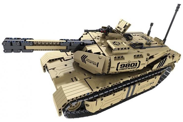 Радиоуправляемый электромеханический конструктор QiHui танк, стреляющий пульками QiHui QH9801
