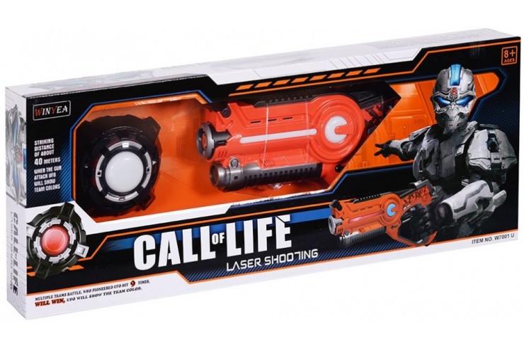 """Игровой набор """"Лазерный пистолет и мишень"""" на батарейках Wineya W7001U"""
