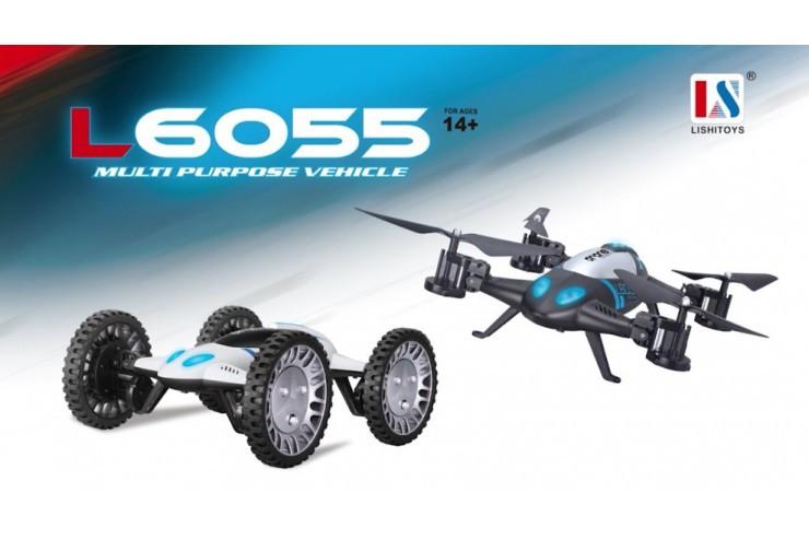Радиоуправляемый квадрокоптер-трансформер Lishi Toys RTF 2.4G WI-FI Lishi Toys L6055-WIFI