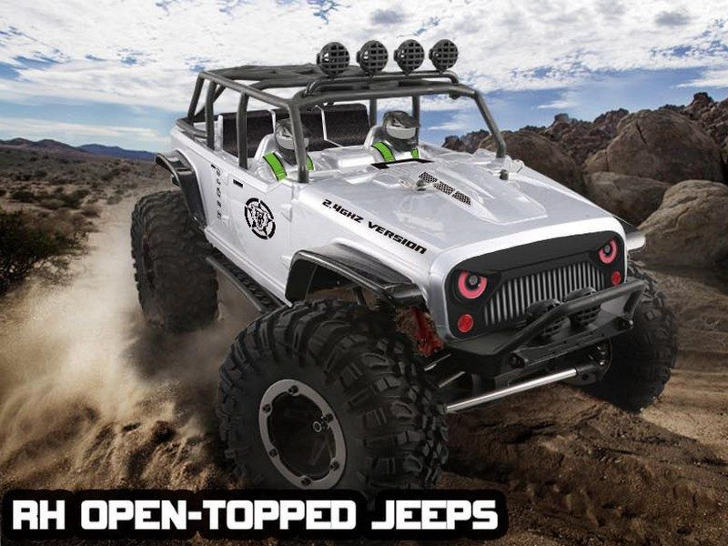 Краулер Remo Hobby Open-Topped Jeeps 4WD 2.4G 1/10 RTR + Ni-Mh и З/У RH1073-SJ