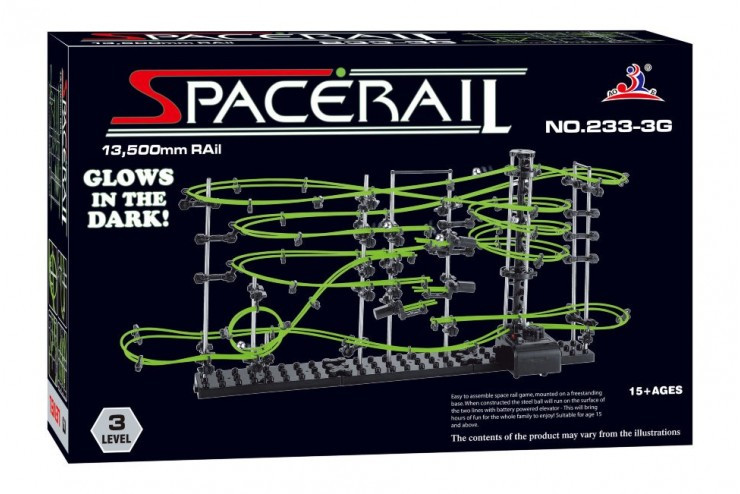 Динамический конструктор Космические горки, новая серия, светящиеся рельсы, уровень 3 SpaceRail 233-3G