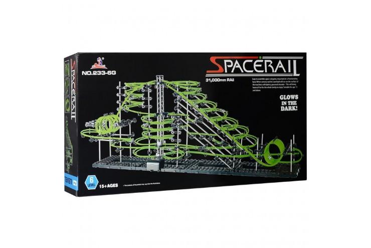 Динамический конструктор Космические горки, новая серия, светящиеся рельсы, уровень 6 SpaceRail 233-6G