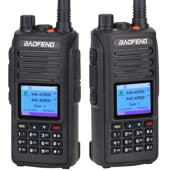Портативная двухдиапазонная рация Baofeng DM-1702 GPS (TIER I и TIER II) VHF/UHF