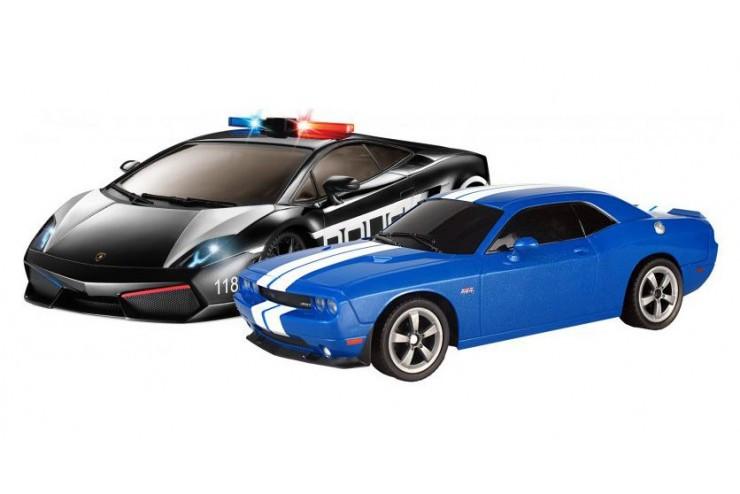 Набор машинок Police Pack-1:16 Gallardo VS Challenger SRT8 Auldey YW299911-4