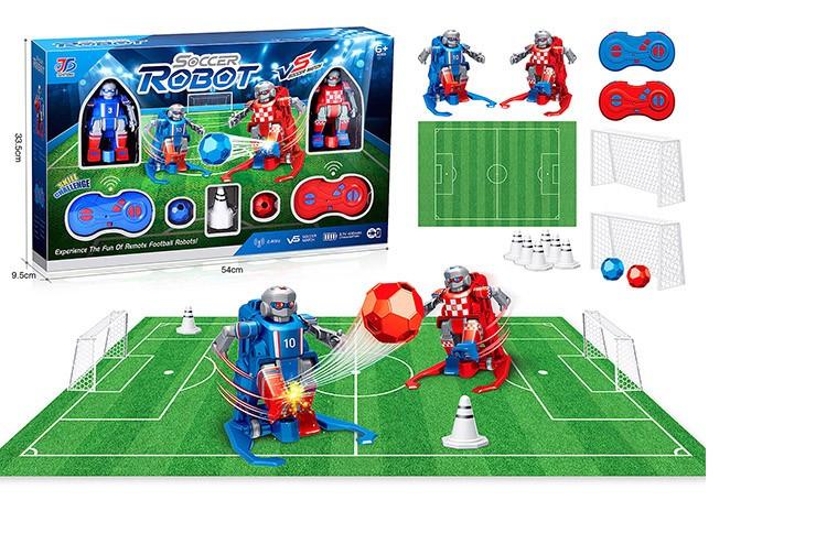 Радиоуправляемые роботы-футболисты (2 робота + футбольное поле) 2.4G Junteng JT9911