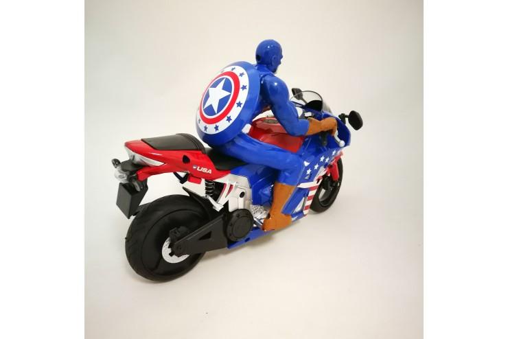 Радиоуправляемый мотоцикл 2.4G (Капитан Америка) с гироскопом Yongxiang Toys 8897-202A
