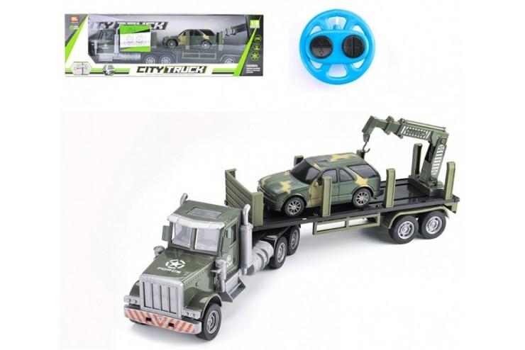 Радиоуправляемый грузовик-трейлер + джип CityTruck 1:18 Zhoule Toys 552-B2