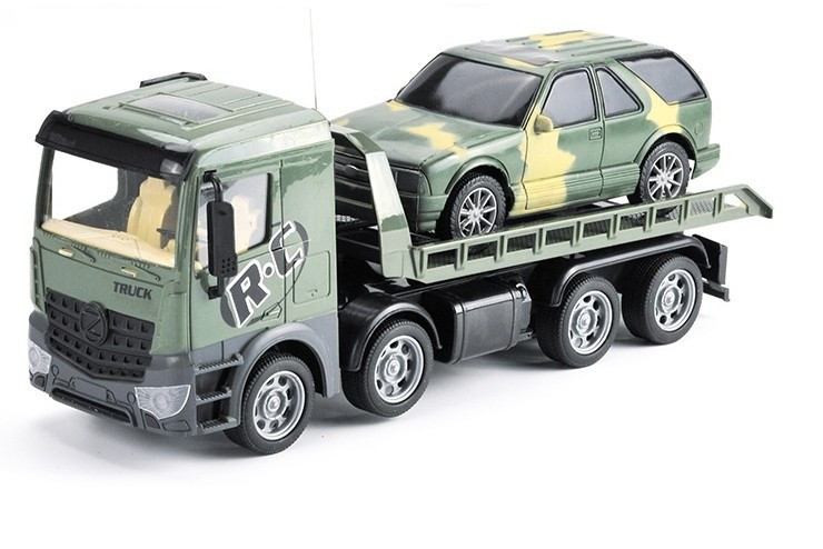 Радиоуправляемый грузовик-трейлер + джип CityTruck 1:24 Zhoule Toys 553-B4