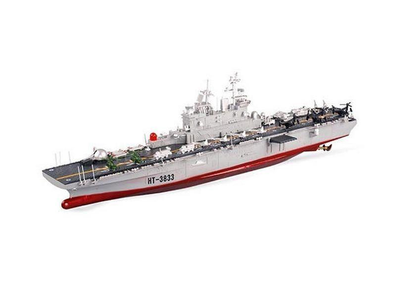 Радиоуправляемый корабль Heng Tai десантный корабль Wasp 2.4G 1/350 HT-3833B