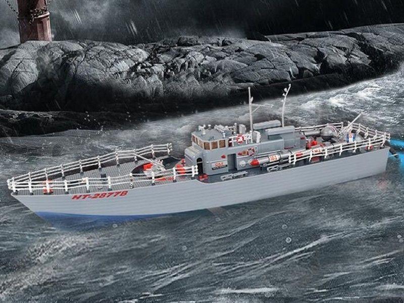 Радиоуправляемый корабль Heng Tai торпедный катер 2.4G 1/115 HT-2877B