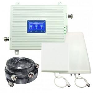 Трехдиапазонный усилитель сотовой связи GSM/3G/4G Комплект