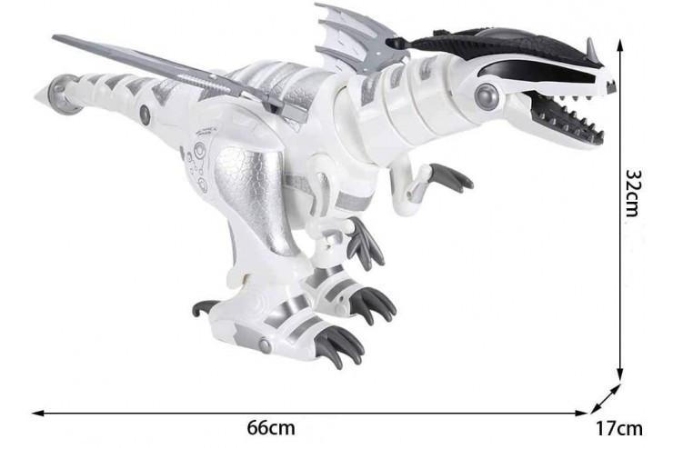 Радиоуправляемый динозавр-рептилия (47 см, свет, звук, программируется) CS Toys CS-8008