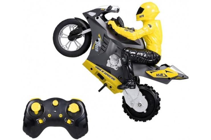 Радиоуправляемый мотоцикл (дрифт, GYRO, 1:6) 2.4G CS Toys HC-801-YELLOW