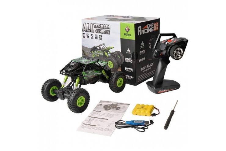 Радиоуправляемый краулер WL Toys масштаб 1:18 2.4G WL Toys 18428-B-GREEN