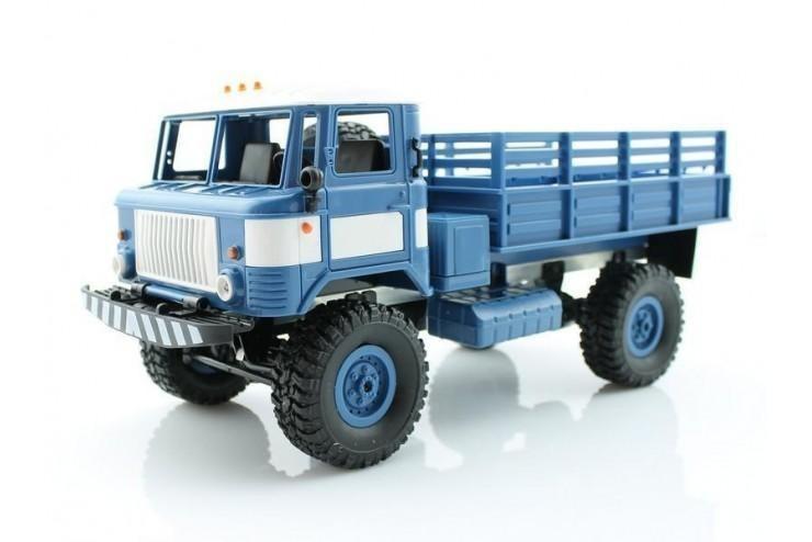 Радиоуправляемая машина WPL Газ 66 грузовая 1:16 + акб RTR 2.4G WL Toys WPLB-24-Blue, WPLB-24-Blue