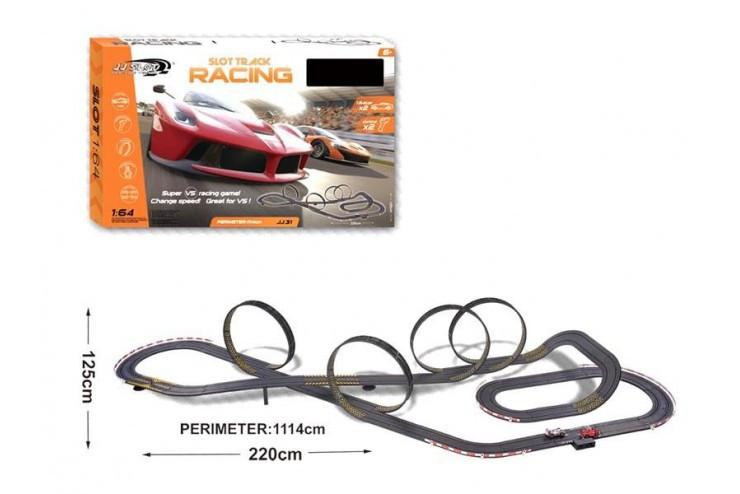 Гоночный трек Turbo Гран При от сети длина трека 1114 см 1:64 JJ Slot JJ31-2