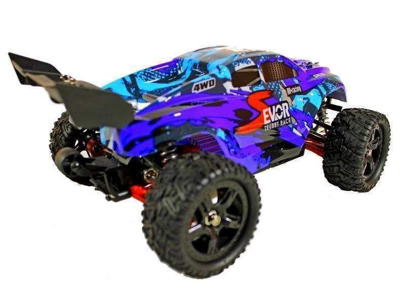 Радиоуправляемая трагги Remo Hobby S EVO-R UPGRADE (синяя) 4WD 2.4G 1/16 RTR, RH1661UPG-BLUE