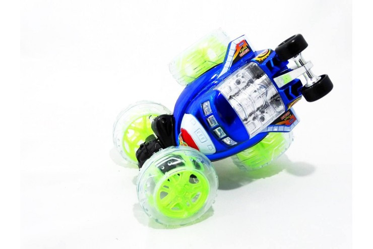 Радиоуправляемая трюковая синяя машинка-перевертыш RENDA RD650